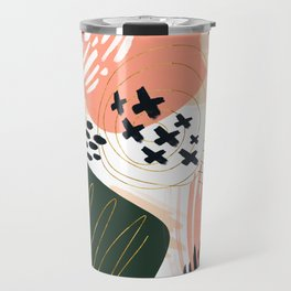 Brushstrokes abstract art III Travel Mug