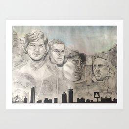 New England Mount Rushmore Art Print