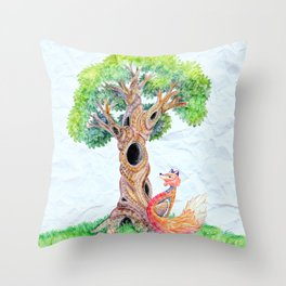 The Spirit Tree V2 Throw Pillow