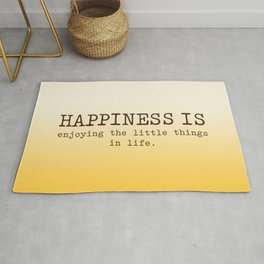 Happiness is enjoying the little things in life, Happiness Quotes Rug