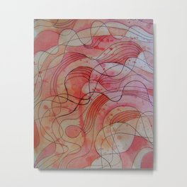strawberry waves Metal Print