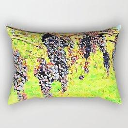 Hortus Conclusus: black grapes Rectangular Pillow