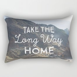 Take the long way home. Rectangular Pillow