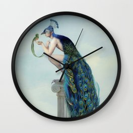 Secrets And Feathers Wall Clock