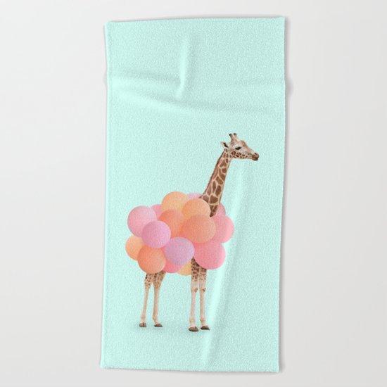 GIRAFFE PARTY Beach Towel