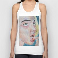 cherry Tank Tops featuring Cherry by SirScm