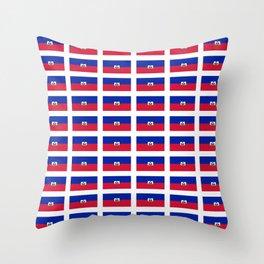 Flag of Haiti-haitan,haitien,port aux princes,cap haitien,carrefour,antilles. Throw Pillow