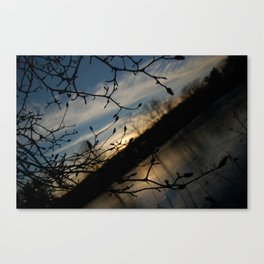 Cold Sunset at Paradise Pond Canvas Print