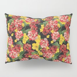 Vintage Flowers Pattern Pillow Sham