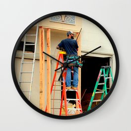 The Ladder Of Choice Wall Clock