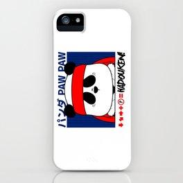 Panda (Hadouken) iPhone Case