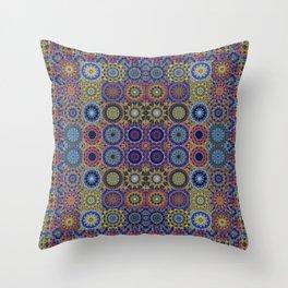 Mandala Sampler Throw Pillow