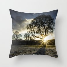 A Winters Sunset Throw Pillow