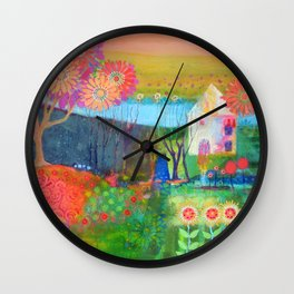 Feeling Peachy Wall Clock