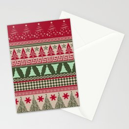Pine Tree Ugly Sweater Stationery Cards