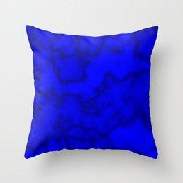 Intense Blue Smoke Throw Pillow