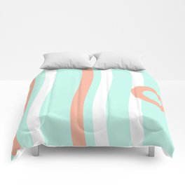 Turquoise & Coral (7) Comforters