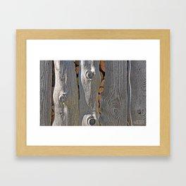 SLAB-SIDE WOODSHED SHADOWS Framed Art Print