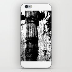 Barbed Wire Fence Post B/W iPhone & iPod Skin
