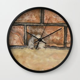 Afraid (Embrace) Wall Clock