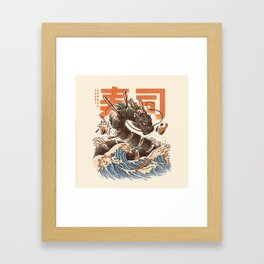 Great Sushi Dragon Framed Art Print