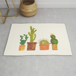 Hedgehog and Cactus (incognito) Rug