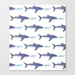 Shark Bros 4 Canvas Print
