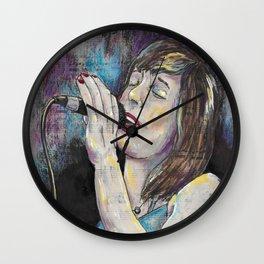 Jazz Singer 2 Wall Clock