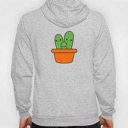 Cute cactus in orange pot Hoody