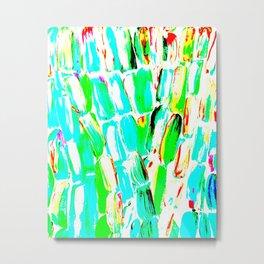 Bright Sugarcane Metal Print