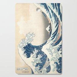 The Great Wave off Kanagawa by Katsushika Hokusai from the series Thirty-six Views of Mount Fuji Cutting Board