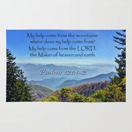 Psalms 121:1-2 Rug