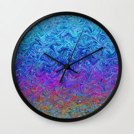 Fluid Colors G255 Wall Clock
