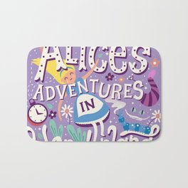 Alice's Adventures in Wonderland - Lewis Carroll Bath Mat