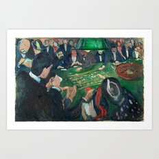 At the Roulette Table in Monte Carlo by Edvard Munch Art Print