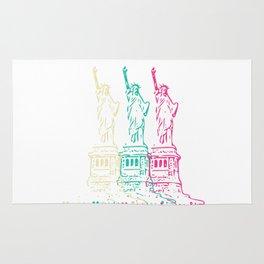 Triple Statue of Liberty Rug