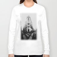 france Long Sleeve T-shirts featuring Monochrome France by MarioGuti