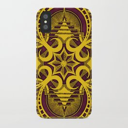 omjárah gold gallery mandala iPhone Case