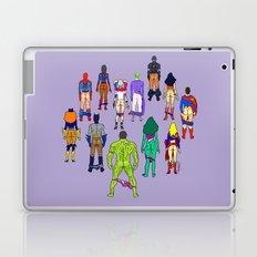 Superhero Power Couple Butts - Violet Laptop & iPad Skin