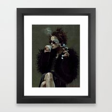 Marla Singer (remaining men together) Framed Art Print