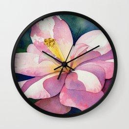 Camellia - Pretty in Pink Wall Clock