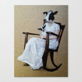 of milk. Canvas Print