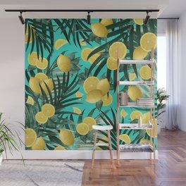 Summer Lemon Twist Jungle #1 #tropical #decor #art #society6 Wall Mural