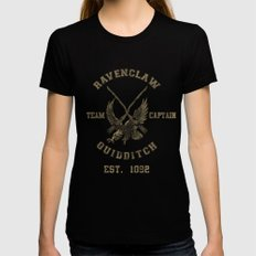 Quidditch House Outfitters Black Womens Fitted Tee MEDIUM
