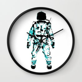 The Astronaut During Interstellar Travel Wall Clock