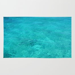 Clear Turquoise Water Rug
