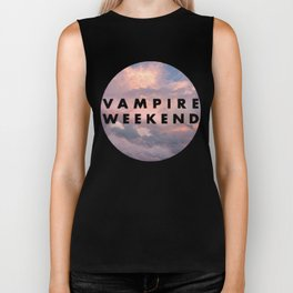 Vampire Weekend clouds logo Biker Tank