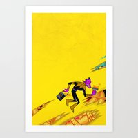 teen titans Art Prints featuring SINESTRO #13 TEEN TITANS GO VAR ED by NOTCHCOMICS