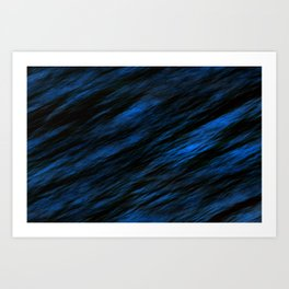 Blue abstract pattern background Art Print