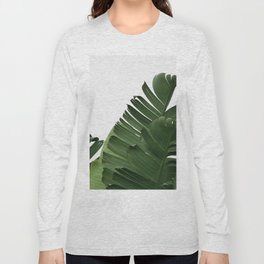 Minimal Banana Leaves Long Sleeve T-shirt
